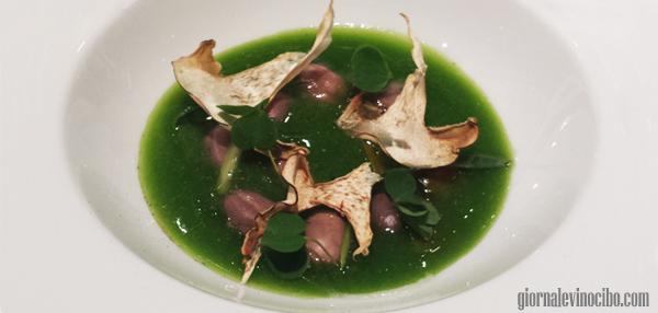 la zuppa di sedano, fagioli, e le verdure candite