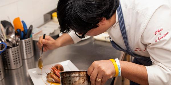 preparazione insalata di mare peppe bonsignore oste e il sacrestano giornalevinocibo