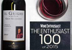wine enthusiast top 100 del 2015 giornalevinocibo